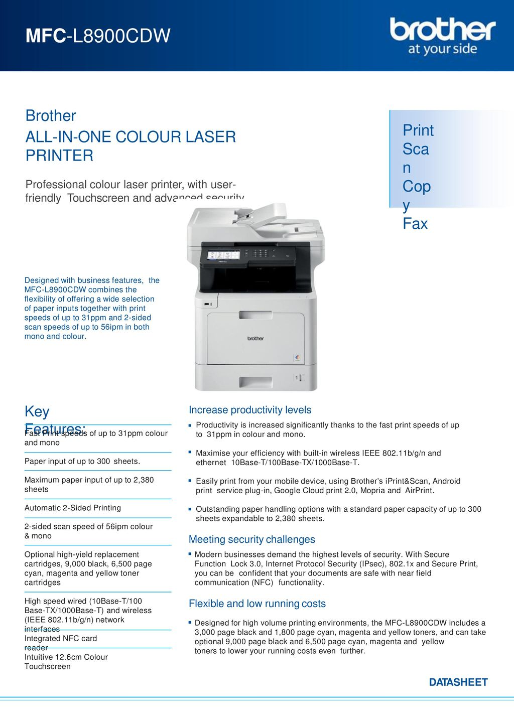 MFC-L8900CDW Brother ALL-IN-ONE COLOUR LASER PRINTER - ppt download