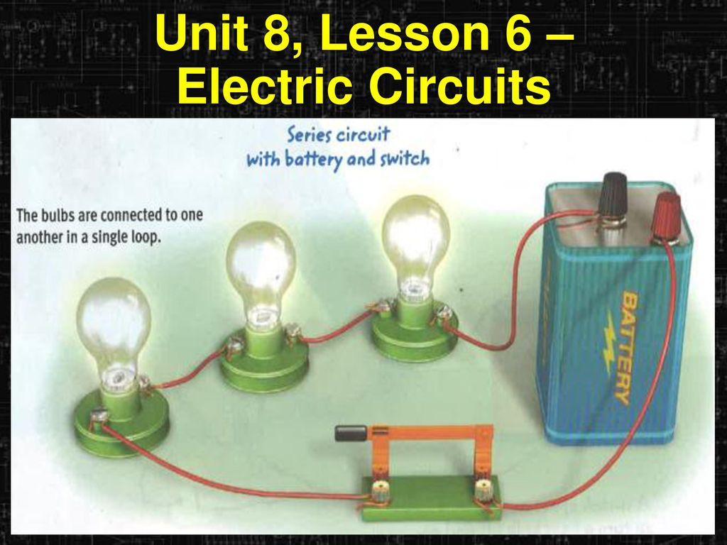 Learning Objectives I Can Describe The Parts Of An Electric Circuit With Switch Battery And Lamp A Series 15 Unit 8 Lesson 6 Circuits
