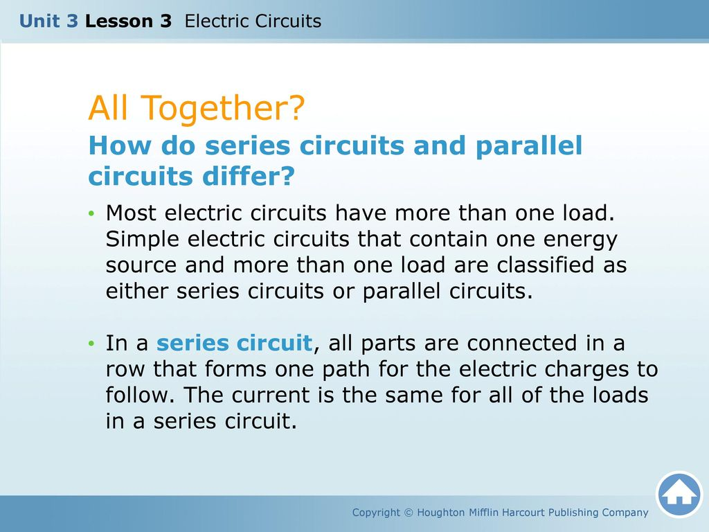 Unit 3 Lesson Electric Circuits Ppt Video Online Download Series Of All Together How Do And Parallel Differ