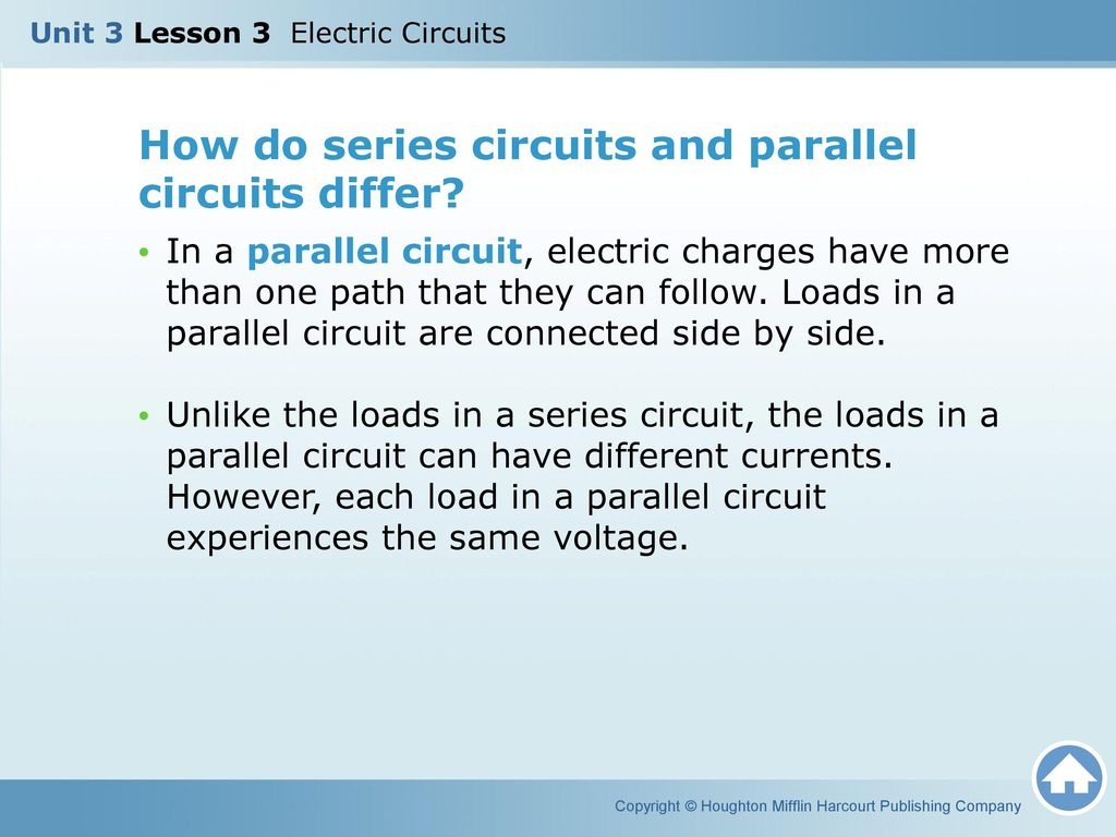 Unit 3 Lesson Electric Circuits Ppt Video Online Download What Is The Difference Between A Parallel Circuit And Series How Do Differ