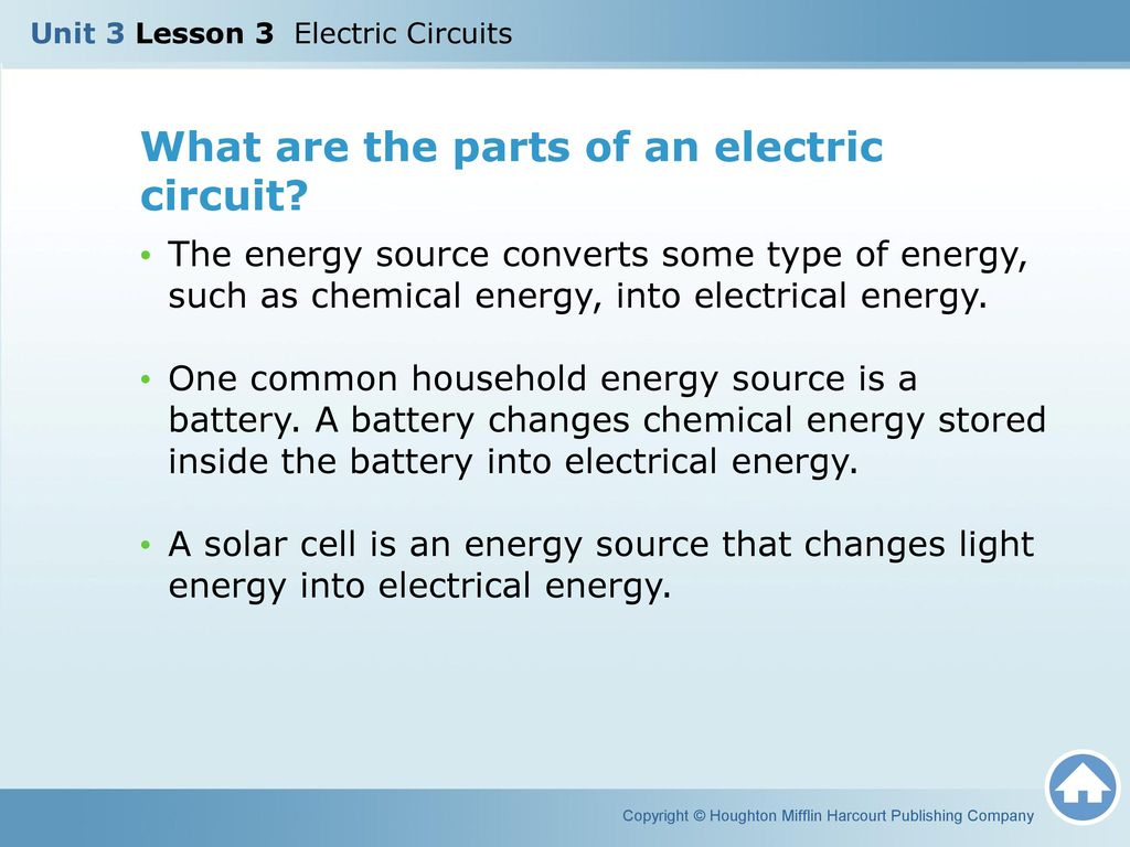 Unit 3 Lesson Electric Circuits Ppt Video Online Download Worksheets High School Electricity Circuit What Are The Parts Of An