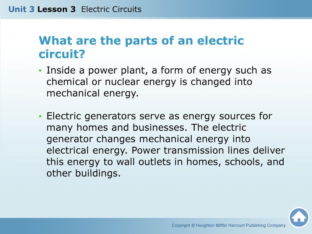 Unit 3 Lesson Electric Circuits Ppt Video Online Download Ac Generator Schematic Diagram On Home What Are The Parts Of An Circuit