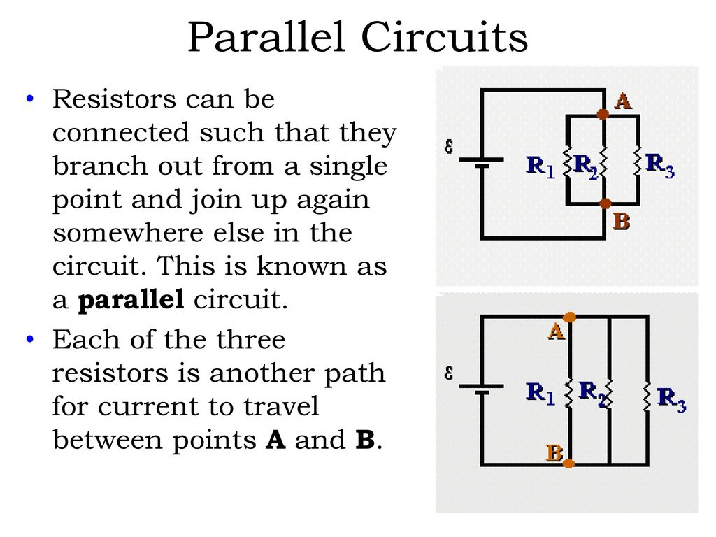 Direct Current Dc Electric Circuits Series And Parallel Ppt Download For In The Text They Show A Circuit That Looks Like This Example Is Shown To Left