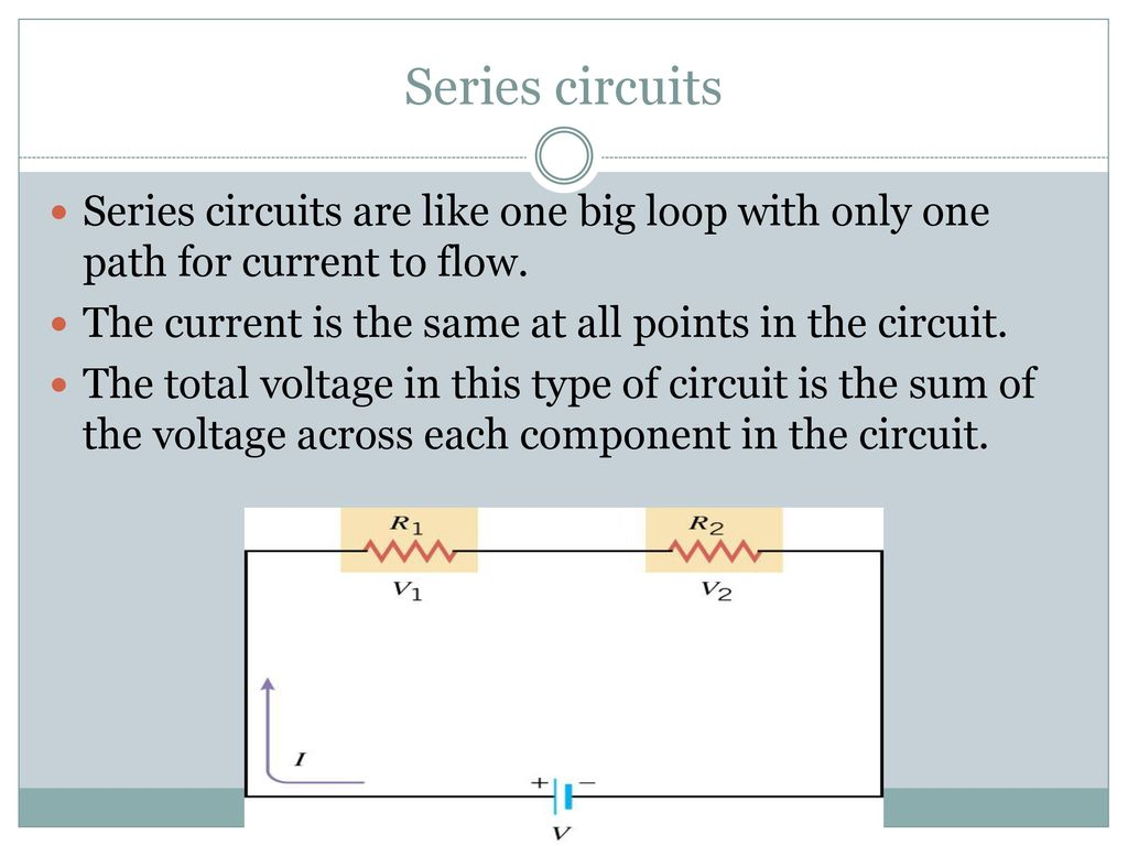 Current And Resistance Ppt Download In A Series Circuit The Through Each Component Is Same As Elements Of Complete