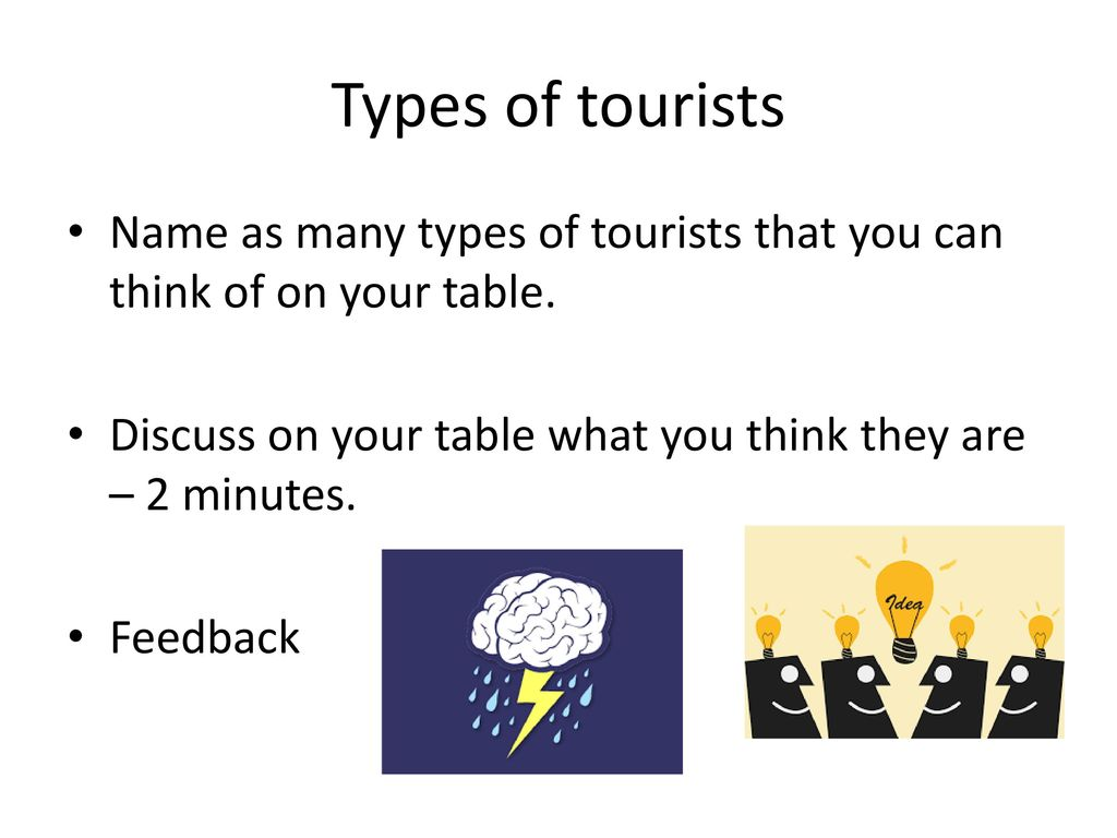 Types of tourists