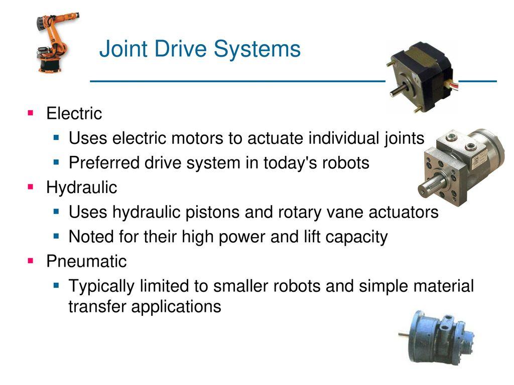Robotics:Unit-III Drive Systems  - ppt download