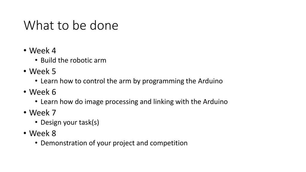 Freshman project Robotic arm control using webcam - ppt download