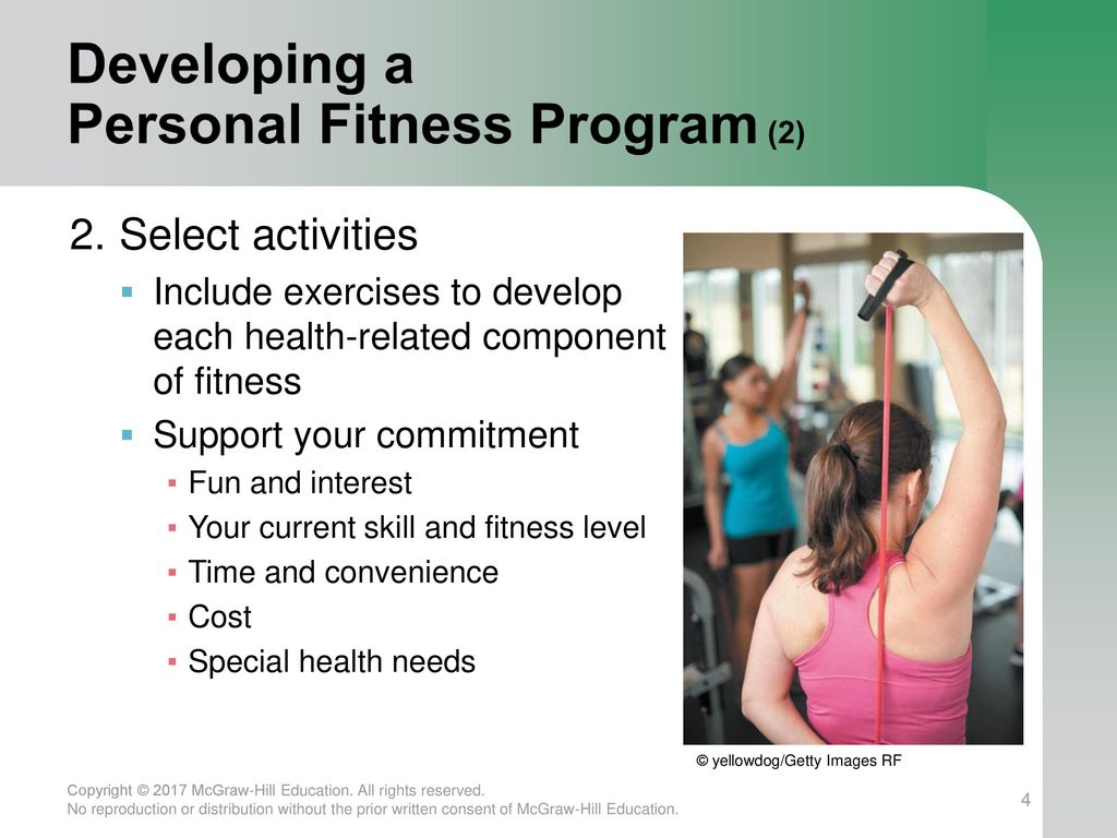 Developing a Personal Fitness Program (2)