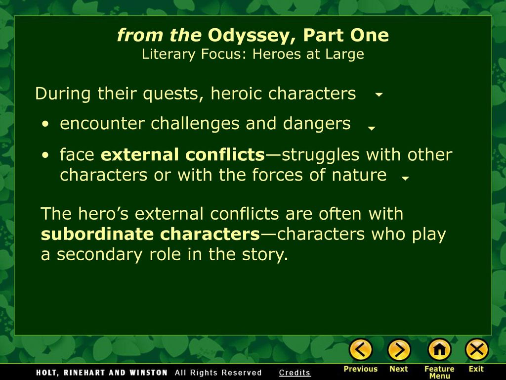 conflicts in the odyssey