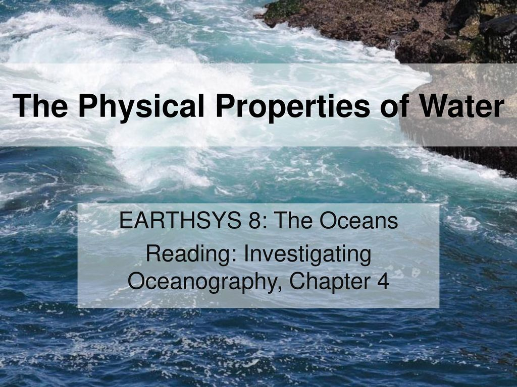 the physical properties of water