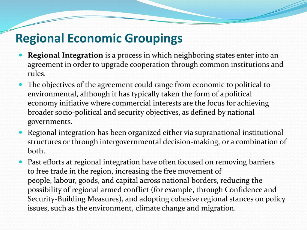 what is economic grouping