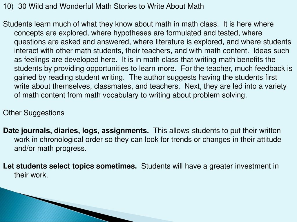 Writing Across the Curriculum - ppt download