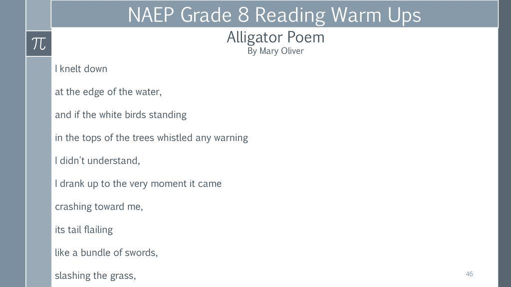 alligator poem mary oliver
