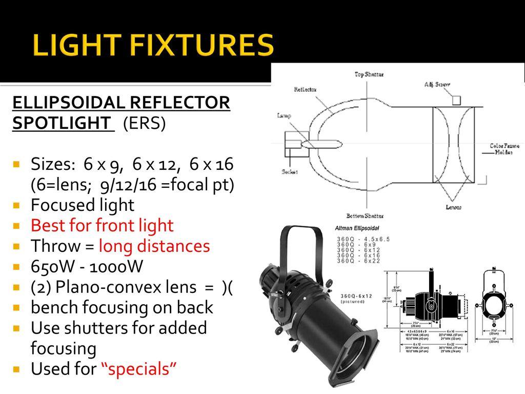 Technical Theatre Light Design Ppt Video Online Download Lighting Diagram 12 Fixtures Ellipsoidal