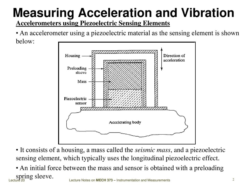 Mech 373 Instrumentation And Measurements Ppt Video Online Download Seismic Vibration Sensor Measuring Acceleration
