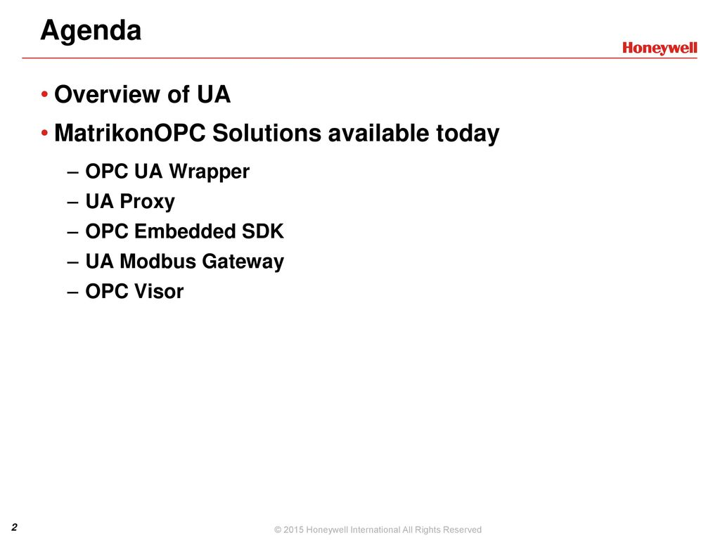 MatrikonOPC UA Products Today - ppt video online download