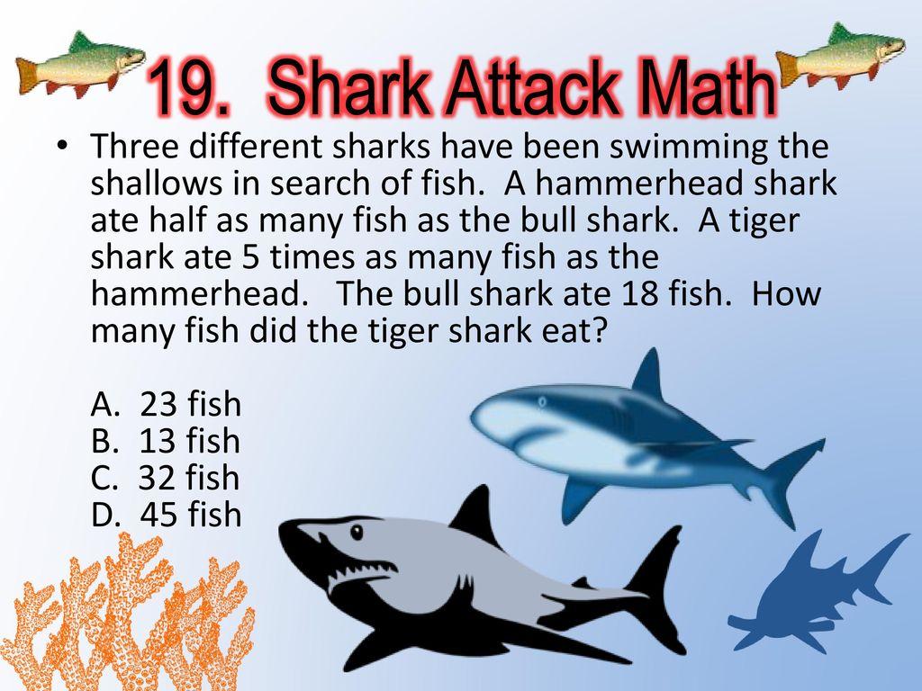 SHARK ATTACK MATH  - ppt video online download