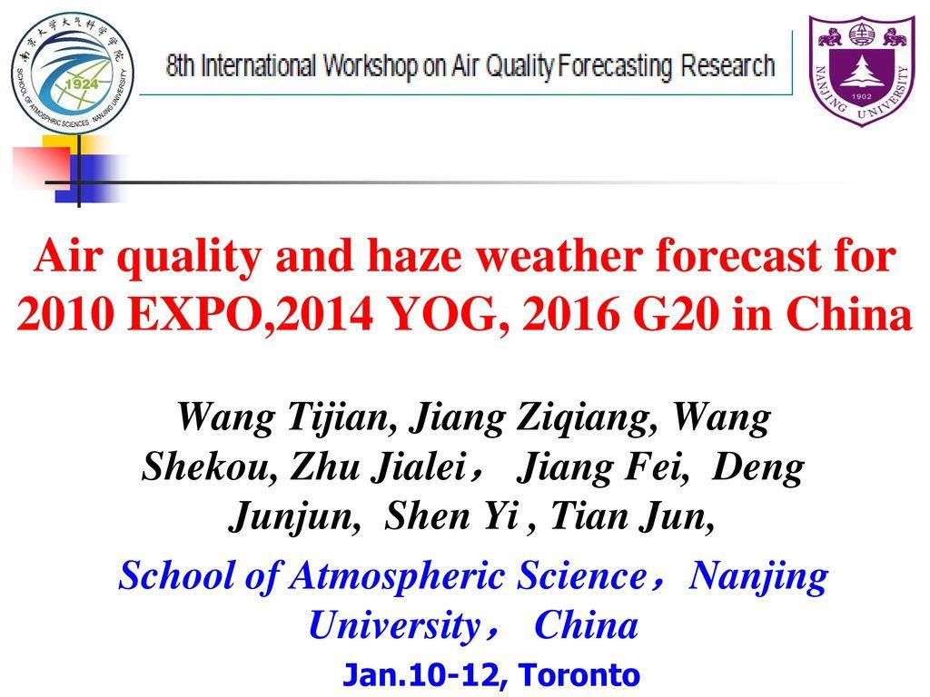 School of Atmospheric Science,Nanjing University, China