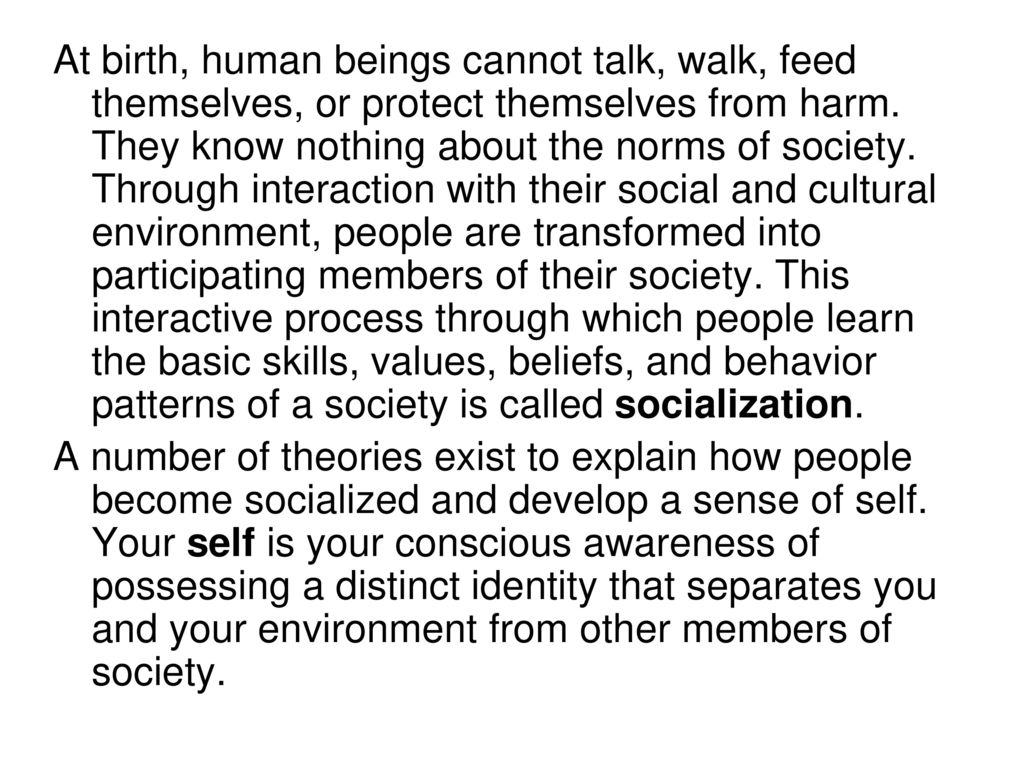The concept of personality in sociology as a conscious member of society
