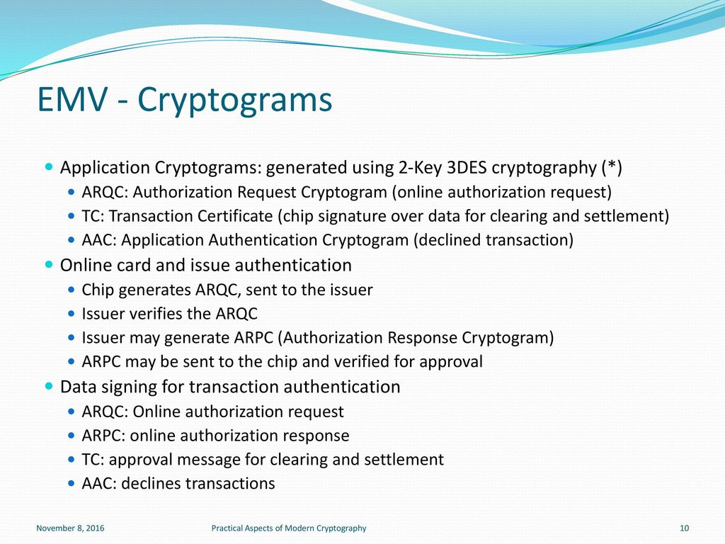 Practical Aspects of Modern Cryptography - ppt download