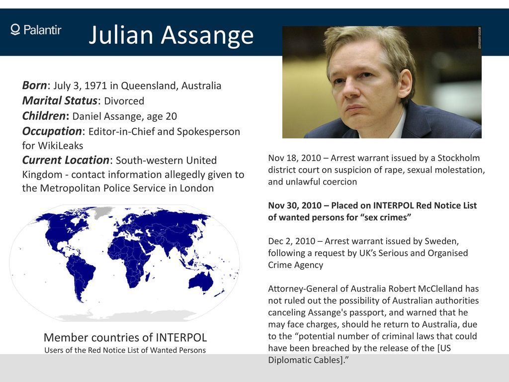 The WikiLeaks Threat An Overview by Palantir Technologies, HBGary
