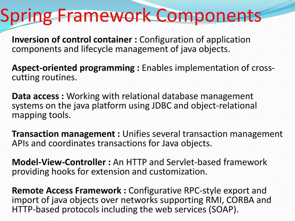 Spring Framework  - ppt download