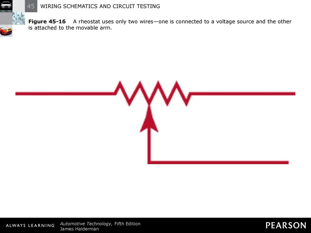 Wiring Schematics And Circuit Testing Ppt Download Two Wire Schematic Diagram 19 Figure A Rheostat Uses Only Wiresone