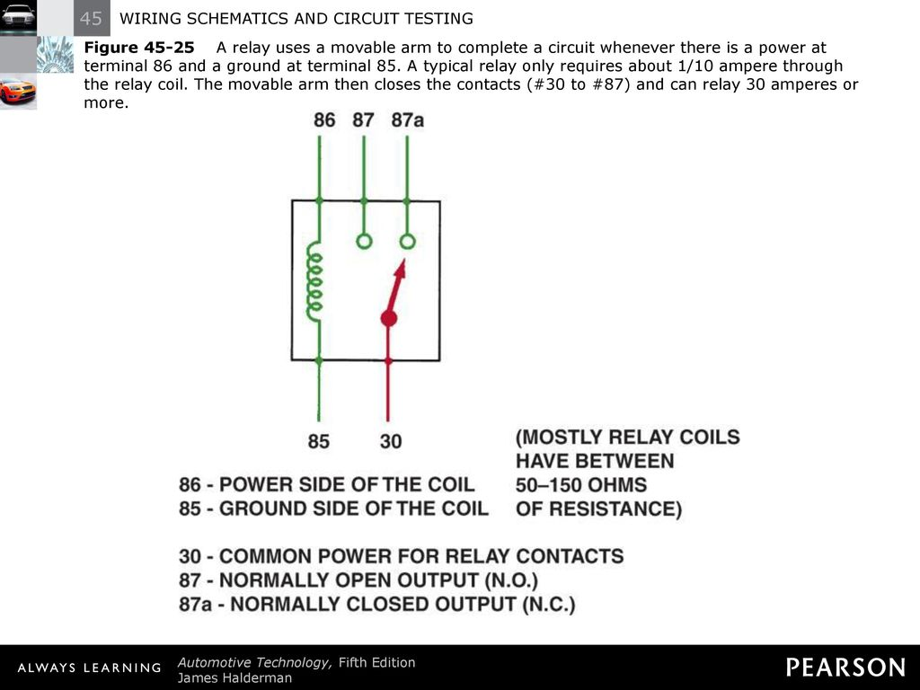 Wiring Schematics And Circuit Testing Ppt Download Relay Coil Diagram 30 Figure A