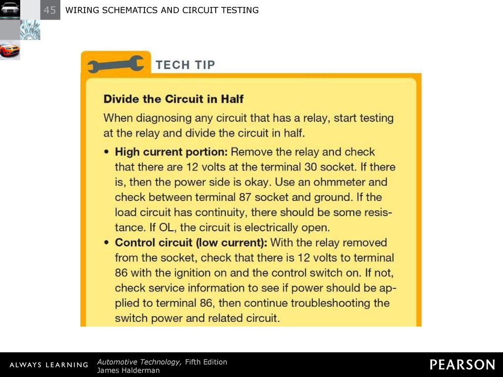 Wiring Schematics And Circuit Testing Ppt Download Current Check Relay 37 Tech