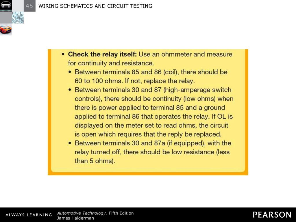Wiring Schematics And Circuit Testing Ppt Download Number On Check 38 Tech