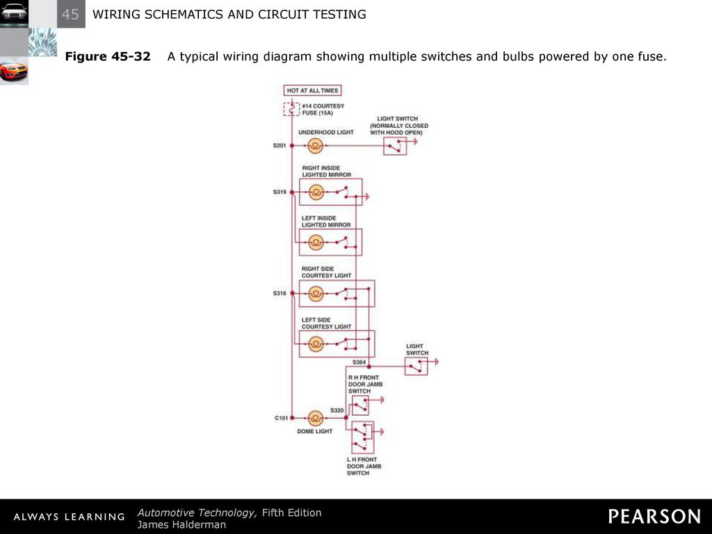 Wiring Schematics And Circuit Testing Ppt Download Study Switches Wired Diagram Schematic 41 Figure 45 32 A Typical Showing Multiple