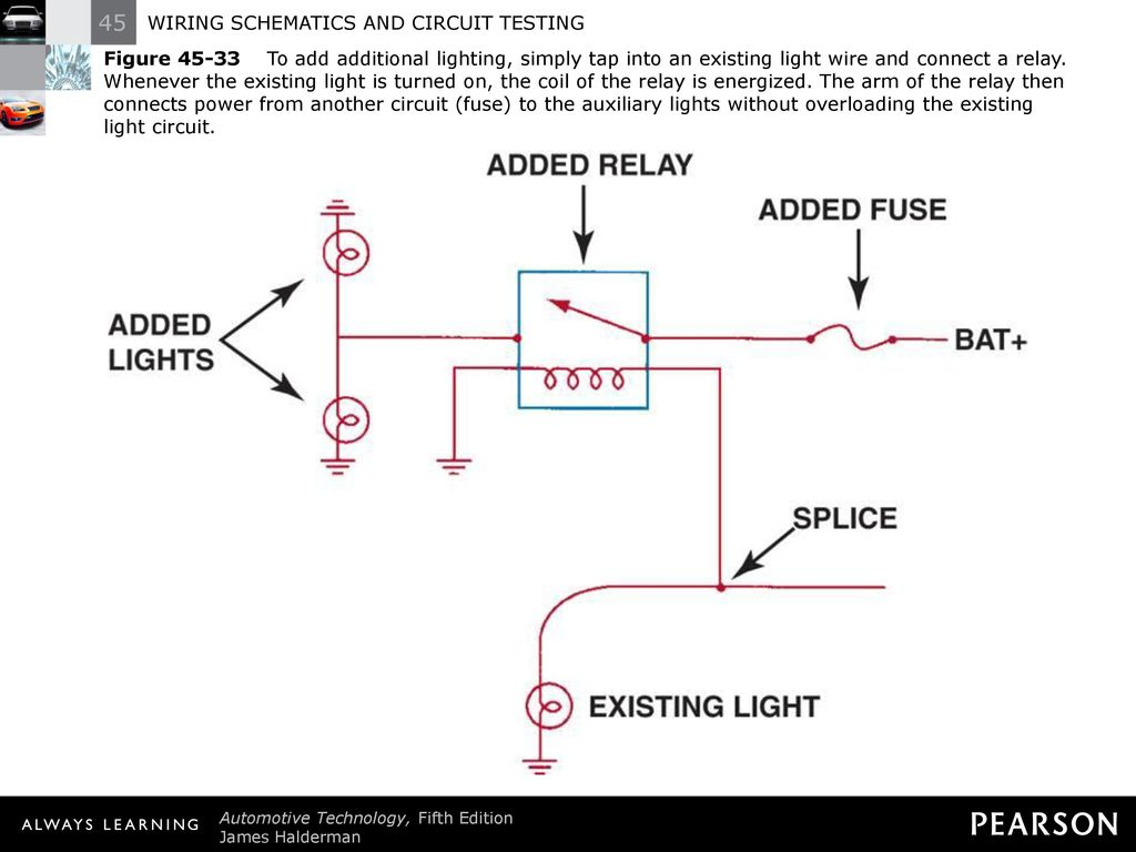 Wiring Auxiliary Lights Without Relay Electrical Diagram Vehicle Light Schematics And Circuit Testing Ppt Download Led To Car Motorcycle Driving