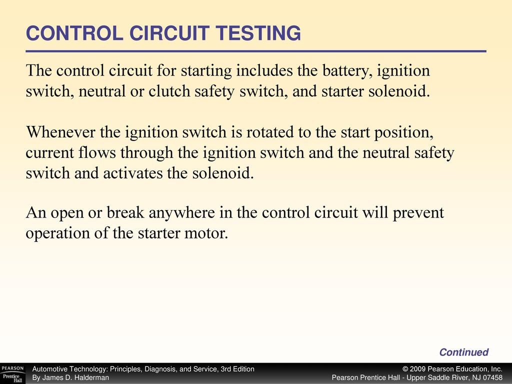 Start Ppt Download Bench Test Starter Solenoid Ford Control Circuit Testing