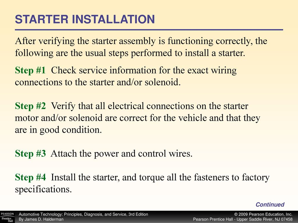 Start Ppt Download Bench Test Starter Solenoid Ford 87 Installation