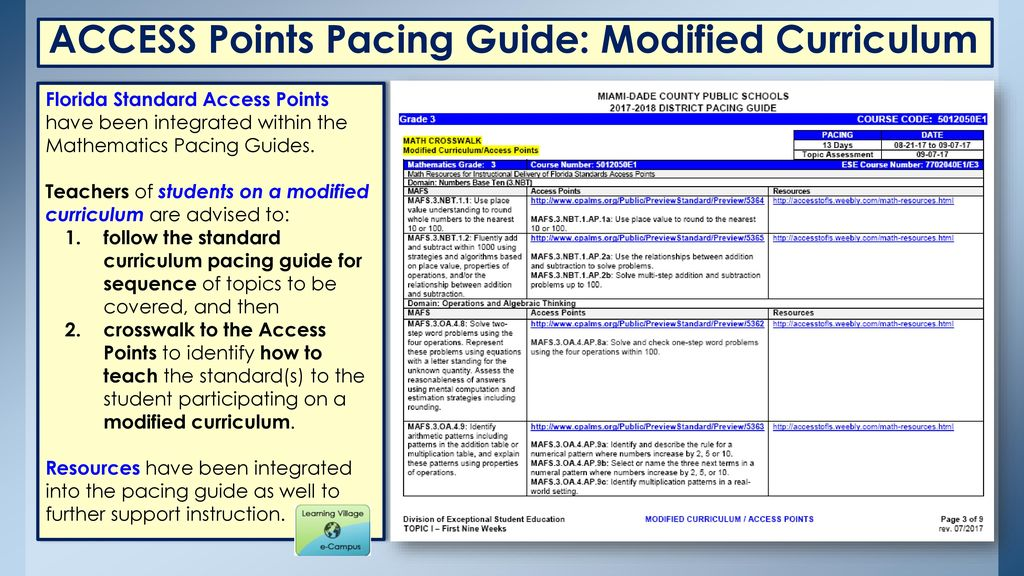 Broward Pacing Guide