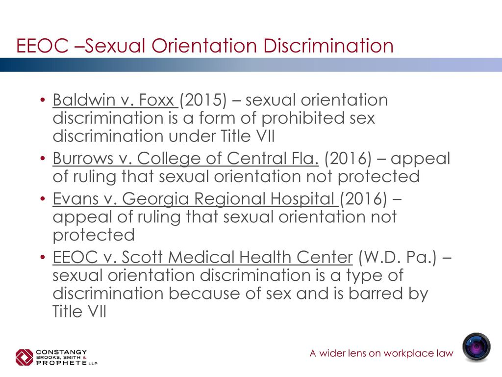Sexual orientation discrimination title vii protected