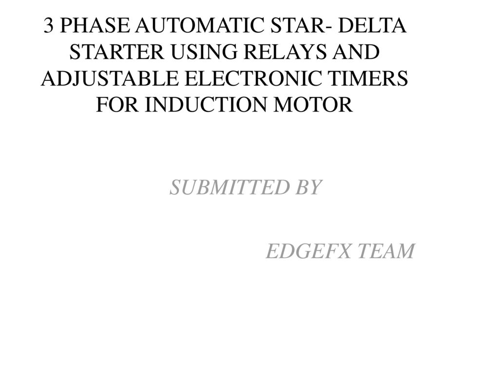 Star Delta Automatic Starter Wiring Diagram Pdf Free Motor Using Relays For Induction Wye Line Dol