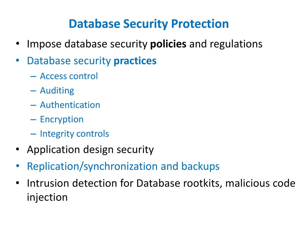 Department Of Compute Science Tennessee State University Ppt Download Database And Application Protection 12 Security