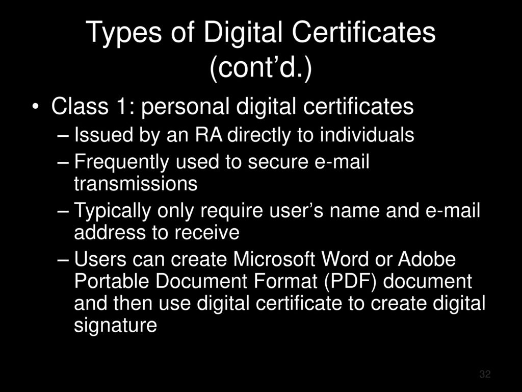 Chapter 8: Cryptography - Part 2 - ppt download