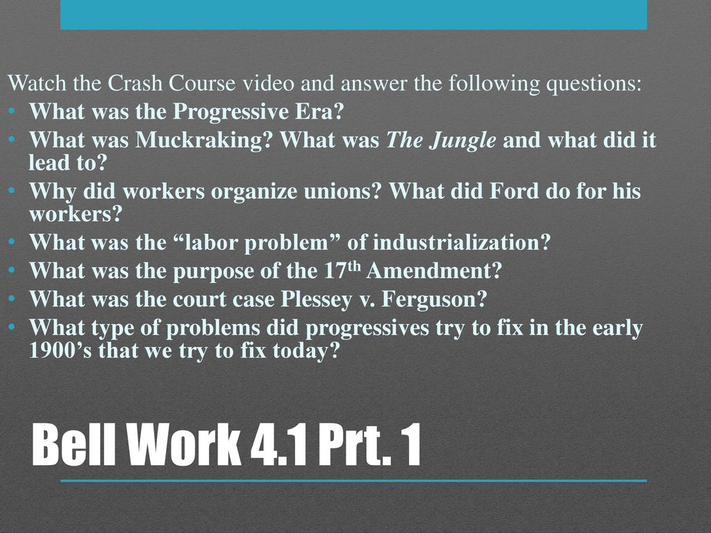 Watch the Crash Course video and answer the following ...