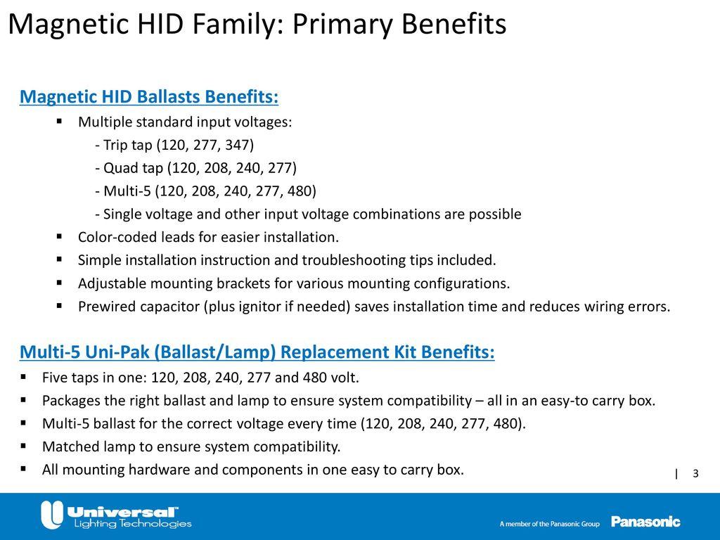 High Intensity Discharge Hid Ppt Video Online Download 277 Volt Lighting Wiring Diagram On 120 Or Light 3 Magnetic