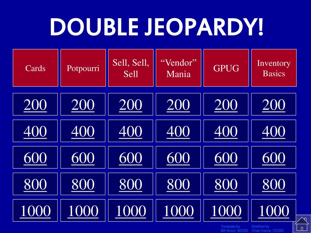 GP Double JEOPARDY! Click Once to Begin - ppt download