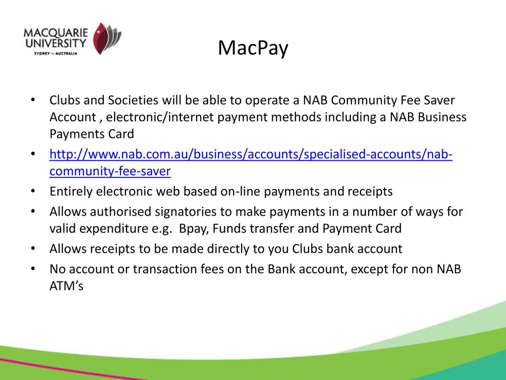 MacPay A web based and electronic banking & payment process for ...