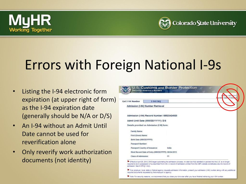 Completing the Form I-9: The Electronic Process - ppt download