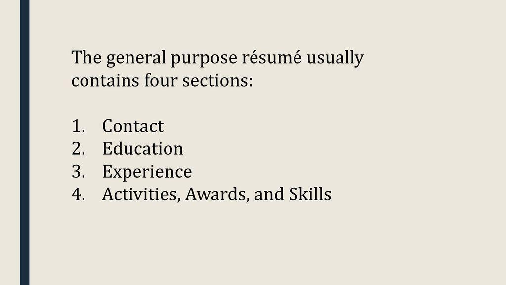 how to write a college application résumé ppt download