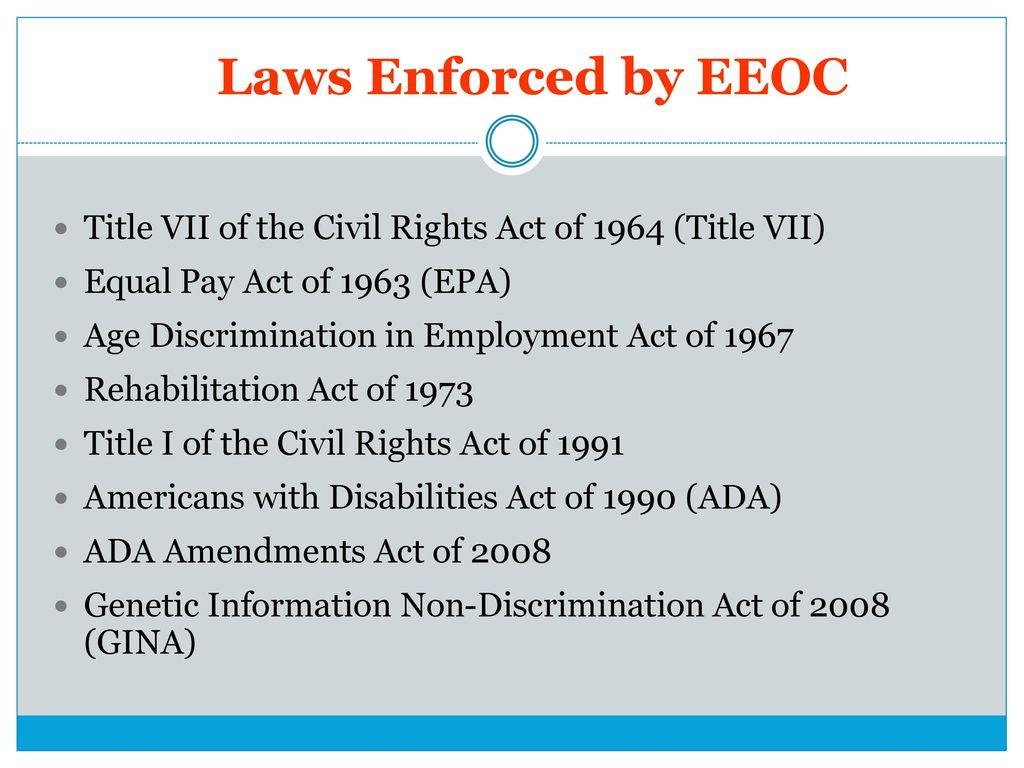 Employment Discrimination in ppt download