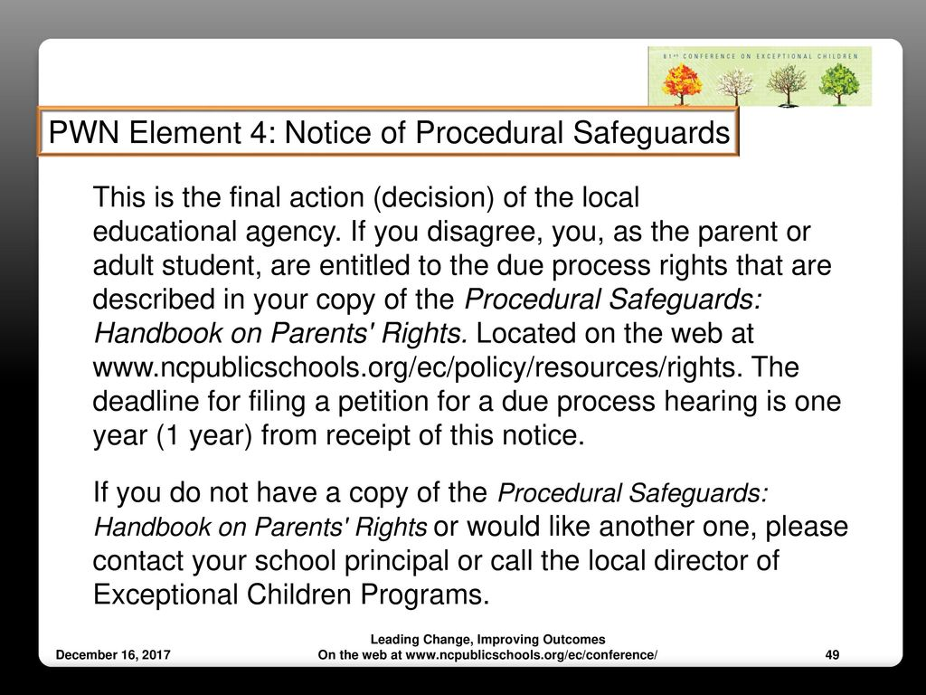 Notice Of Special Education Procedural Safeguards For Ospi >> Prior Written Notice And Reevaluation The When And How Ppt Download