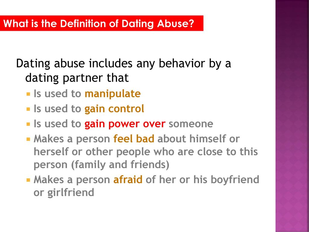 definition of dating abuse