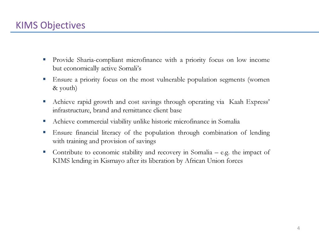 Kaah International Microfinance Services - ppt download