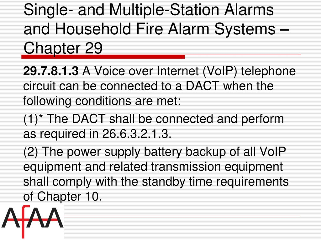 NFPA National Fire Alarm & Signaling Code - ppt download